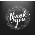 Thank You Card chalk drawing on the blackboard vector image