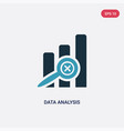 two color data analysis icon from user interface vector image vector image