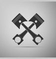 two crossed engine pistons icon isolated vector image