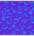 Violet Halloween seamless pattern vector image