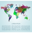 watercolor map vector image vector image