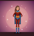woman cosplay style vector image
