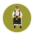 woman in traditional serbian dress balkan folklore