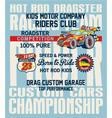 hot rod kids racing team vector image