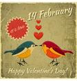 Vintage Valentines Day Card vector image