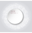 White Paper Sticker Frame Grunge Retro background vector image