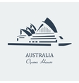australia opera house sydney vector image