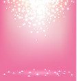 Abstract magic Light on sweet pink background vector image vector image