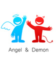 angel and demon vector image vector image