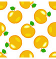 apples fruits seamless pattern yellow elements vector image