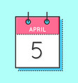 april calendar icon vector image