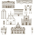 background with famous Italian landmarks vector image vector image