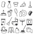 Basic Cleaning Tools Icons Set vector image vector image