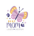 best mom logo design happy mothers day creative vector image