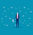 businessman catch money business financial vector image vector image