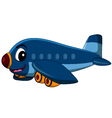 cartoon airplane flying vector image vector image