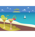 Coctails on the tropical beach vector image vector image