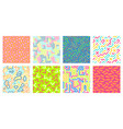 color seamless geometric pattern colorful maze vector image vector image