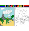 coloring book with spinosaurus cartoon vector image vector image