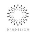 concept dandelion logo vector image vector image