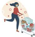 coronavirus panic shopping covid-19 concept vector image vector image