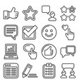 customer reviews and feedback icon set line style vector image