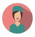 doctor web icon surgeon avatar vector image