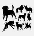 Dog pet animal silhouette 03 vector image