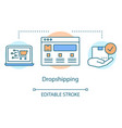 dropshipping concept icon supply chain management vector image