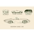 European classic sports car silhouettes