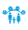 family holding hands together protection pictogram vector image vector image