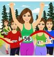 female athlete runner winning marathon vector image vector image