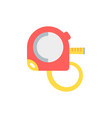 flat a measuring tape vector image