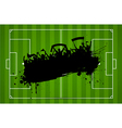 Football or soccer background with grunge vector image vector image