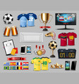 football set collection realistic mock up vector image