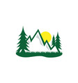 forest and mountain graphic design template logo vector image