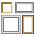 four multicolored frames isolated on white vector image