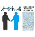 Friend Meeting Icon with 1000 Medical Business vector image