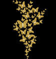 gold glitter spring nature butterfly vector image