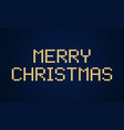 gold merry christmas block typography holidays vector image