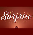 hand drawn lettering - surprise decorated vector image