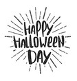 happy halloween party lettering vector image vector image