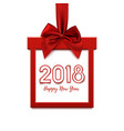 happy new year 2018 design square banner vector image vector image