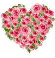 heart roses vector image vector image