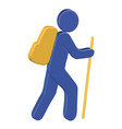 hiking 3d icon vector image