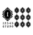 laser cutting numbers template for the festive vector image vector image