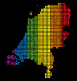 lgbt dotted netherlands map vector image