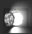 light open door safe steel vector image vector image