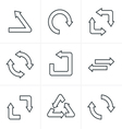 Line Icons Style Simple flat design vector image