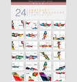 mega collection of geometrical business vector image vector image